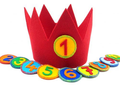 Geburtstagskrone Basic in rot