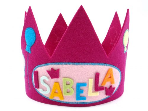 Geburtstagskrone Luftballons in pink