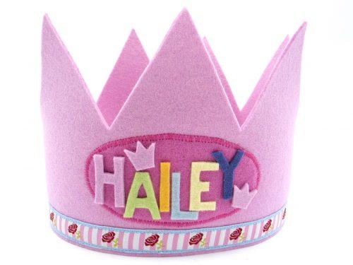 Geburtstagskrone Röschen in rosa
