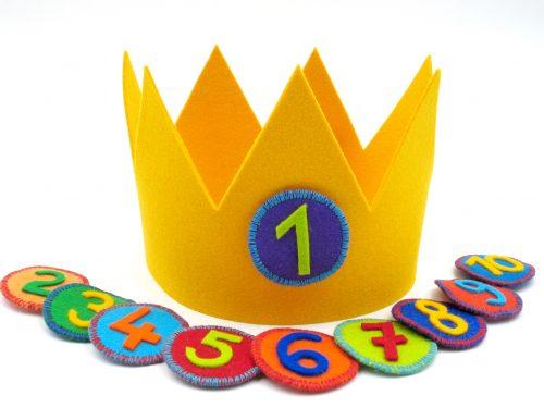 Geburtstagskrone Basic in gelb