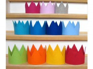 Geburtstagskrone Basic in verschiedenen Farben