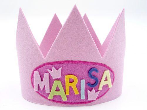 Geburtstagskrone Basic in rosa