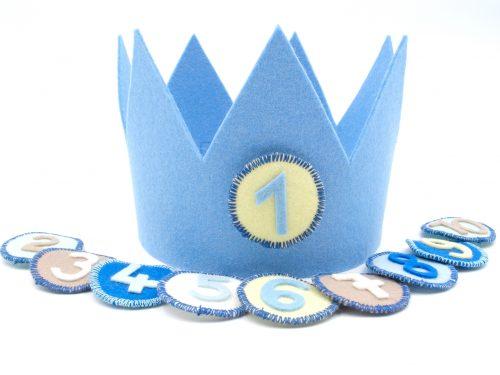 Geburtstagskrone Basic in hellblau
