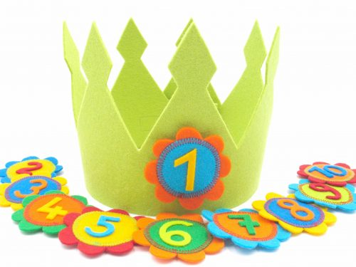 Geburtstagskrone Fleur in grün
