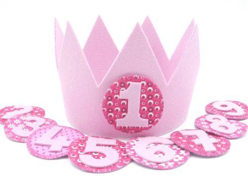 Geburtstagskrone Lisa in rosa